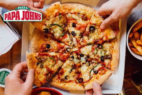 Papa Johns Pizzas - Small 8 inch Create Your Own pizza with two toppings, or large 13.5 inch pizza with two toppings for collection - Save 85%