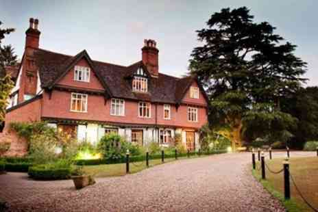 Ravenwood Hall Hotel - Suffolk country house, 2 course lunch & coffee for 2 - Save 58%