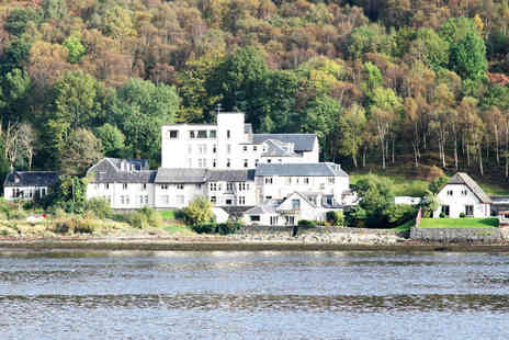 Loch Long Hotel - One or two night Loch Lomond stay for two with two course meal and bottle of wine - Save 51%