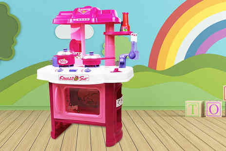 Who Needs Shops - A kids pink play electronic cooking set - Save 71%