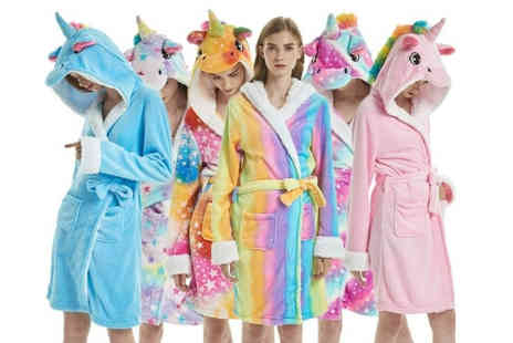 Blu Fish - Unicorn dressing gown, choose from six designs - Save 75%