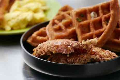 Harlies Diner - Chicken and Waffles, Canadian Maple Syrup and Maple Bacon for Two or Four - Save 32%