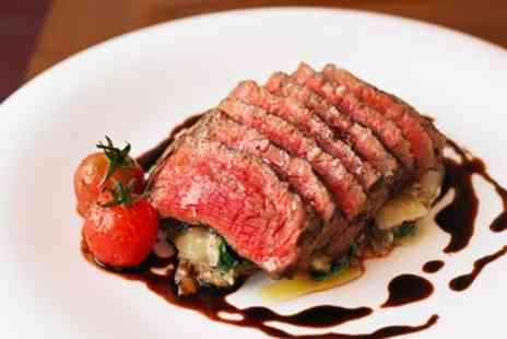 The Farndon Boathouse Bar & Kitchen - Steak meal for 2 with wine at delightful pub - Save 37%