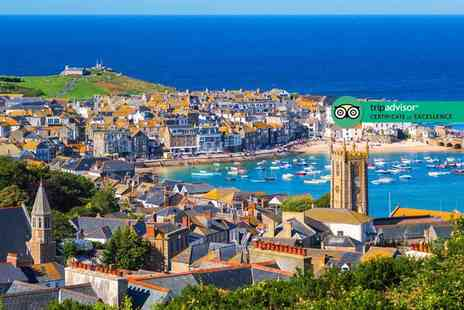 Carbis Bay Hotel - Luxury 4 Star one or two night St Ives break for two with two course dinner, glass of wine and breakfast - Save 58%