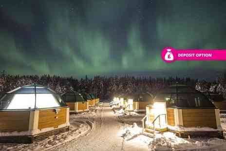 Crystal Travel - Two night Lapland Snow Hotel and Glass Igloo stay with breakfast and flights - Save 21%