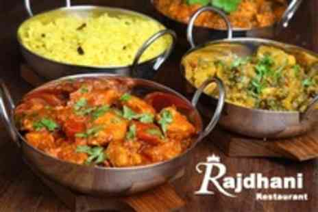 Rajdhani Restaurant - Two Course Indian Meal For Four - Save 50%