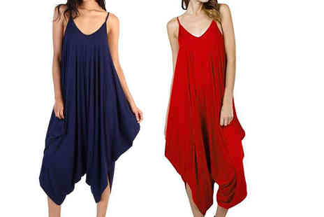 Verso Fashion - Baggy harem jumpsuit choose from six colours - Save 77%