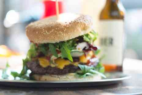 Black Horse - 8oz Homemade Steak Burger with Beer for Up to Four - Save 45%