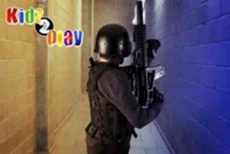 Kidz 2 Play - Two 30 minute games of adult laser tag for 1 person or for 4 people embrace your inner child - Save 60%