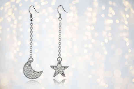 Evoked Design - Pair of moon and star earrings - Save 78%