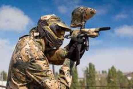 Campsie Commandos - Full day of paintball for four people including a light lunch, equipment hire and 100 paintballs - Save 93%
