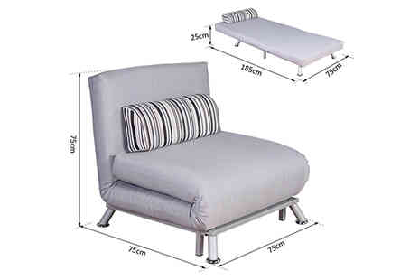 Mhstar - 2 in 1 Folding Sofa Bed With Pillow - Save 38%