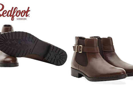 Redfoot - Womens Leather Buckle Chelsea Boot by Redfoot in 3 Colours - Save 83%