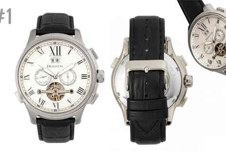 Ideal Deal - Heritor Automatic Hudson Chronograph Mens Watch Choose 6 Designs - Save 88%