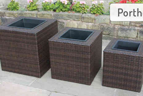Envisage Home - Three Piece Rattan Planter Sets in 11 Variations - Save 78%