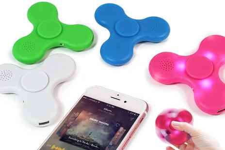 Groupon Goods Global GmbH - One or Three Light Up Bluetooth Finger Spinners with Speakers - Save 75%