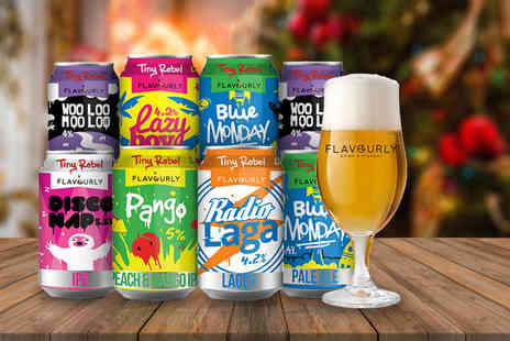 Flavourly - Case of eight mixed craft beers, snack, magazine and an branded tasting glass - Save 56%