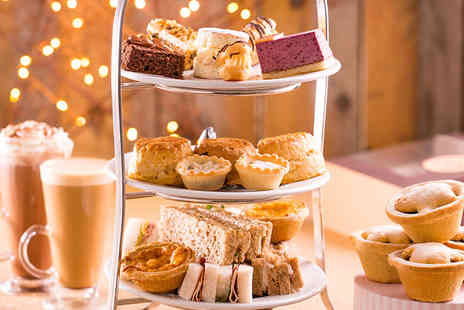 Patisserie Valerie - Festive afternoon tea for two people or include a glass of Prosecco each - Save 21%