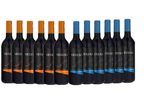 Casa de Vinos Finos - Luxury 12 Bottle Collection of Merlot, Pinot Noir or Syrah Wine - Save 66%