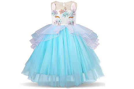 Buy Something - Childrens Unicorn Party Dress Choose 3 Colours And 6 Sizes - Save 78%