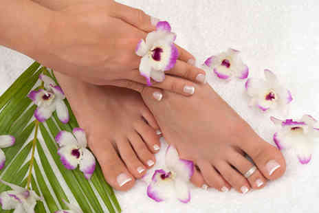 Cindy's Nails - Luxury manicure and pedicure plus an eyebrow wax - Save 76%