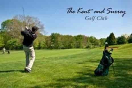 The Kent and Surrey Golf Club - 18 Holes of Golf For Two - Save 74%
