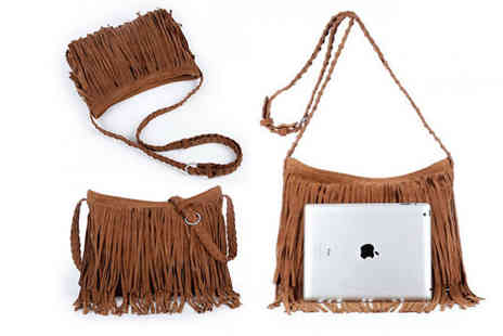 Blu Fish - A suede tassel handbag choose from six colours - Save 80%