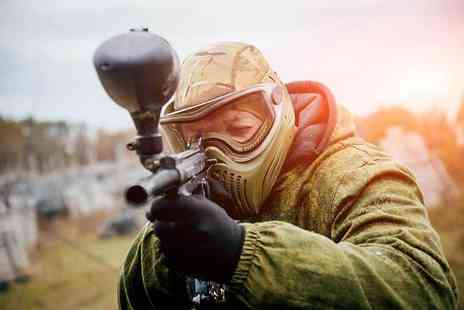 Paintball Network - Paintballing with 100 balls and a light lunch for 10 people - Save 0%