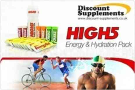 Discount Supplements - Single Pack of High 5 Energy and Hydration - Save 53%