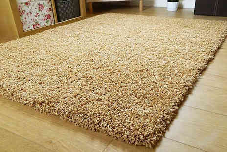 Groundlevel - Shaggy lounge rug choose from 13 colours and five sizes - Save 66%