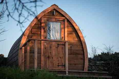Bod Hyfryd - Two night luxury Anglesey glamping pod stay for two people with a continental breakfast and hot tub access - Save 27%