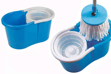 Direct 2 public - 360 Degree rotating microfibre mop system - Save 67%
