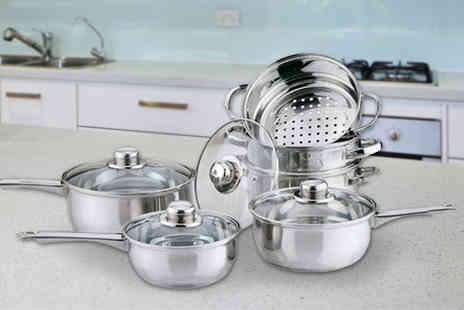 Direct 2 public - 10 piece pan and steamer set - Save 60%