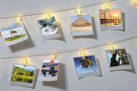 Zoozio - Set of 10, 20 or 30 LED photo clip string lights - Save 67%