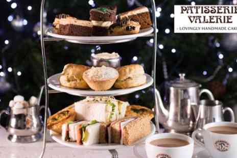 Patisserie Valerie - Traditional or Festive Afternoon Tea with Optional Prosecco for Two - Save 24%