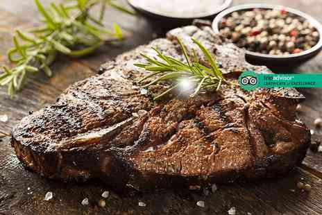 Hilton Belfast - 8oz sirloin steak dinner with sparkling wine for two or four - Save 55%
