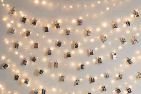 Black Feather - Set of 10, 36 or 40 LED photo clip string lights - Save 75%
