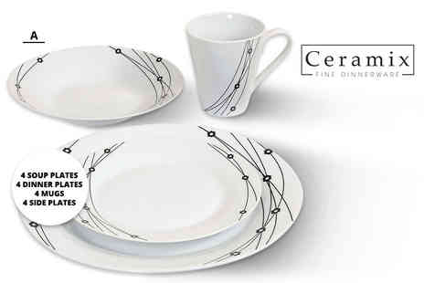 Direct 2 public - 16 piece dinner set - Save 74%