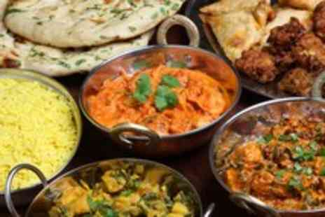 Bombay Delight - Indian meal for 2 inc. starters, mains, rice & naan & ice cream - Save 54%