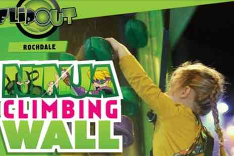 Flip Out Rochdale - One Hour Indoor Climbing Session for Up to Four - Save 35%