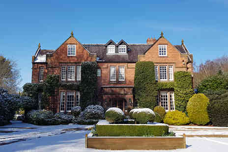 Nunsmere Hall Hotel - One night stay with a cream tea and glass of Prosecco each or with three course dining and a glass of Prosecco - Save 39%