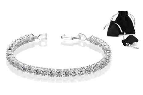 Philip Jones - Round tennis bracelet made with crystals from Swarovski - Save 83%