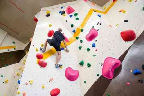 Social Climbing - Indoor Climbing Day Entry for One Adult, One Child or Two Adults and Two Children - Save 37%