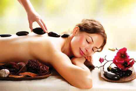 Beauty on the Spot - 30 minute hot stone or aromatherapy back, neck and shoulder massage and a 30 minute facial for one or two - Save 74%