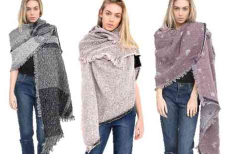 Verso Fashion - Oversized fashion scarf choose from three designs and four colours - Save 76%
