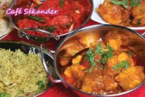 Cafe Sekander - Indian meal for two inc. starter, main and coffee each - Save 48%