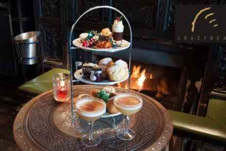 The Crazy Bear Group - Festive Afternoon Tea with a Cocktail or Premium Champagne Afternoon Tea - Save 52%