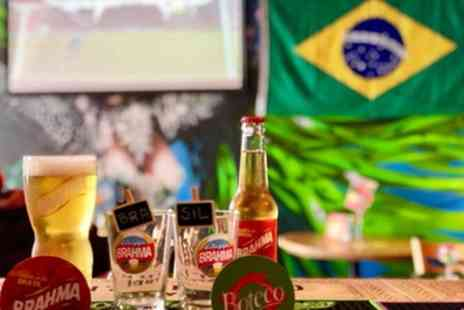 Boteco Do Brasil - Brazilian mix grill meat or seafood platter with sides, sauce and wine for two or four - Save 42%