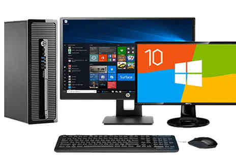 CRS - HP 400 G1 SFF Desktop With 500GB HDD & 4GB RAM Available 19 or 22 Inch - Save 44%