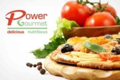 Power Gourmet - Pizza and Salad With Wine For Four - Save 64%